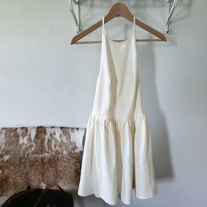 keepsake the label white halter backless dress